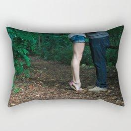 Legs of a Couple Kissing Rectangular Pillow