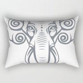 elephant head Rectangular Pillow