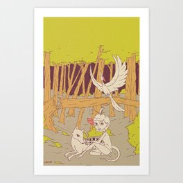 Caelum and the Lost Ones Art Print