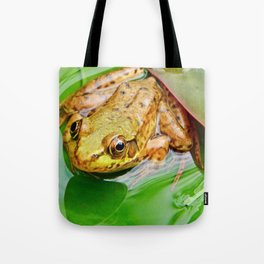 Frog on Pad Tote Bag
