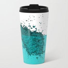 Abstract Splash Metal Travel Mug