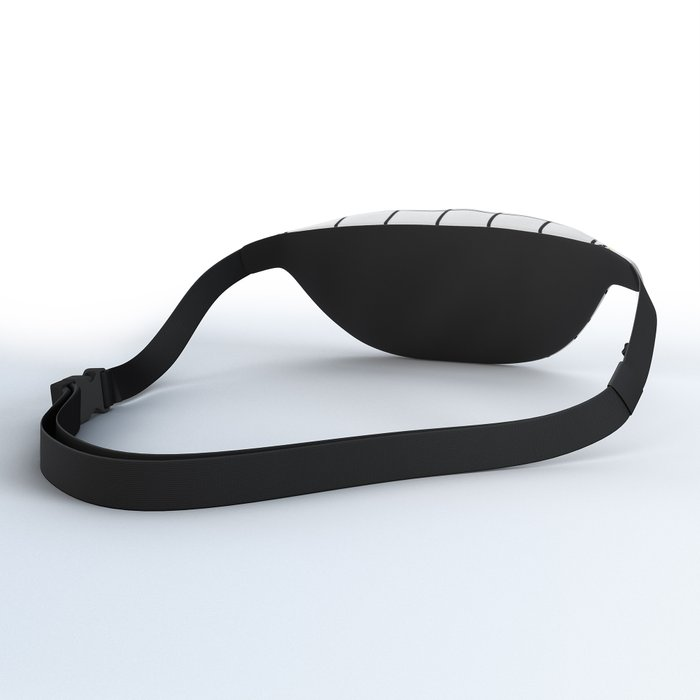 black and white grid pattern Fanny Pack