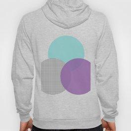 abstract circles - blue purple grid Hoody
