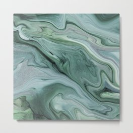 Marble green Metal Print