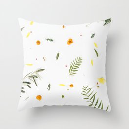 Foraged Florals Throw Pillow