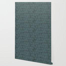 Grey Blue Squared Stone Blocks Wall Texture Wallpaper
