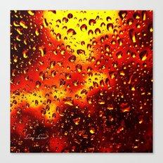 I set fire to the rain Canvas Print