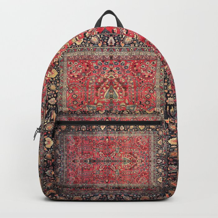 Antique Persian Red Rug Rucksack