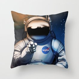 NASA Wants You Vintage Poster from 70s Moon Astronaut Artwork For Prints Posters Tshirts Bags Men Wo Throw Pillow
