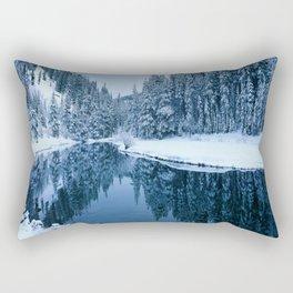 Fields of Winter Rectangular Pillow