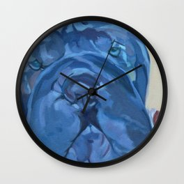 Khloe the Sharpei Portrait Wall Clock