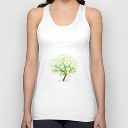 Summer tree. Mandalas and sunlight Unisex Tank Top