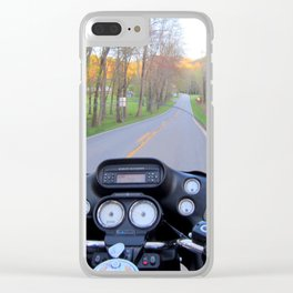 April on the Harley Clear iPhone Case
