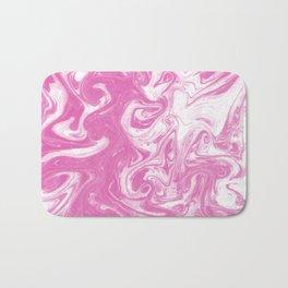 Toru - spilled ink abstract watercolor painting splash ocean sea girly trendy marbled paper marbling Bath Mat