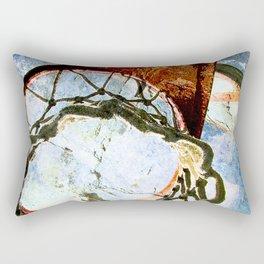 Basketball art print halftime 1 Rectangular Pillow