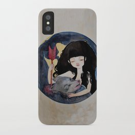 The First Seduction or Big Bad Wolf Having a Big Bad Day iPhone Case