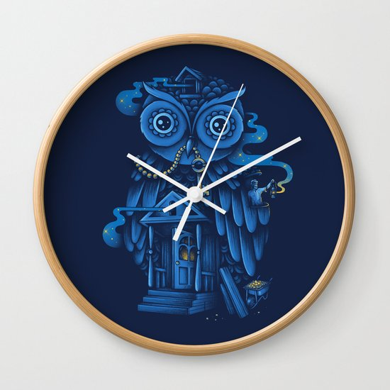 Guardian of the Night Wall Clock