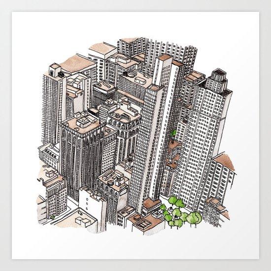 New York View Art Print
