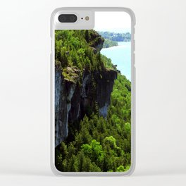 Lions Head Cliffs Clear iPhone Case