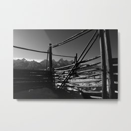 Teton Silence Metal Print