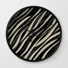Tiger abstract striped pattern . Wall Clock