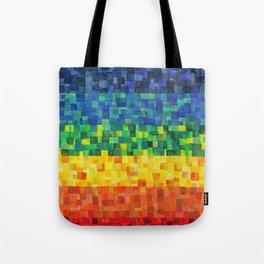 Chakra Rainbow Tiles Tote Bag