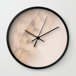 Two feathers on a soft pastel background - beautiful couple Wall Clock