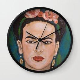 Frida Kahlo Variation 2 Wall Clock