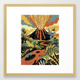 Supervolcano Framed Art Print