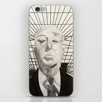 hitchcock iPhone & iPod Skins featuring Hitchcock by Abbi Burrows