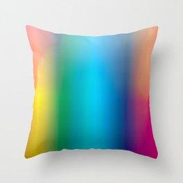 Rainbow colours Throw Pillow