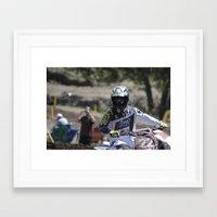 chad wys Framed Art Prints featuring Chad Reed // 2011 by Ashton Dewey