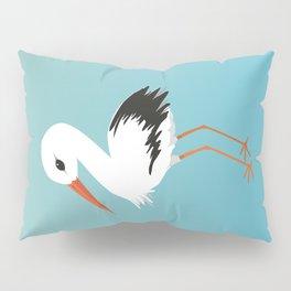 Cute stork vector Pillow Sham