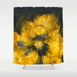 Jaune Fleur Shower Curtain
