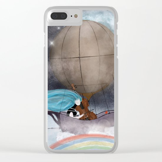 somewhere over the rainbow Clear iPhone Case