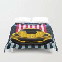 The Yellow King Corvette C7 Duvet Cover