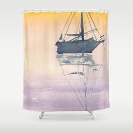 Sunrise Sailboat in the Maritmes Shower Curtain