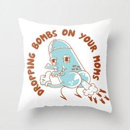 Droppin' Bombs Throw Pillow