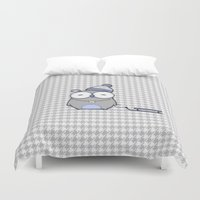 hamster Duvet Covers featuring Hamster in the snow by Mr & Mrs Quirynen