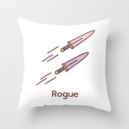 Cute Dungeons and Dragons Rogue class Throw Pillow