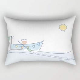 Row row row your boat gently down the stream Rectangular Pillow