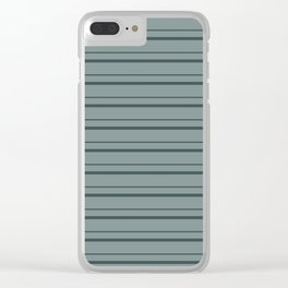 Night Watch PPG1145-7 Horizontal Stripes Pattern 3 on Scarborough Green PPG1145-5 Clear iPhone Case