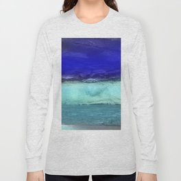 Midnight Waves Seascape Long Sleeve T-shirt