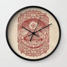 In Block We Trust (Red) Wall Clock