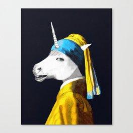 Cool Animal Art - Funny Unicorn Canvas Print