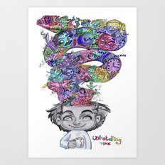 uninstalling my mind  Art Print