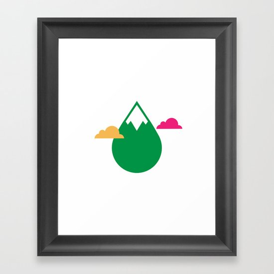 THE MISSING SCARF - Mountain Framed Art Print