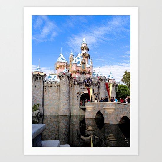 Sleeping Beauty's Holiday Castle Art Print