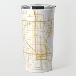 PHOENIX ARIZONA CITY STREET MAP ART Travel Mug