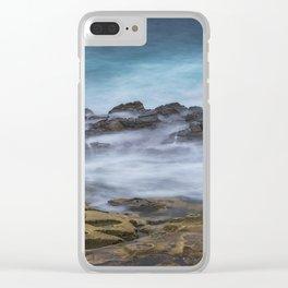 Misty Ocean Blur Clear iPhone Case